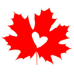 Maple Shot Challenge logo with maple leaf and heart