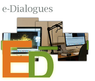 e-Dialogue initial graphics with computer image