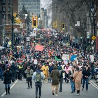 Protest March in Montreal