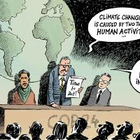 Climate change is caused by two things