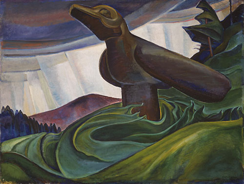 Swedish researchers determine ravens have planning abilities and consider the future. Painting by Emily Carr.