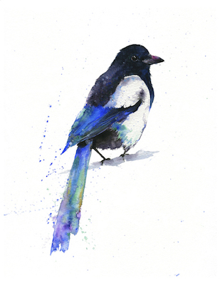 Olga Cutell Magpie Painting