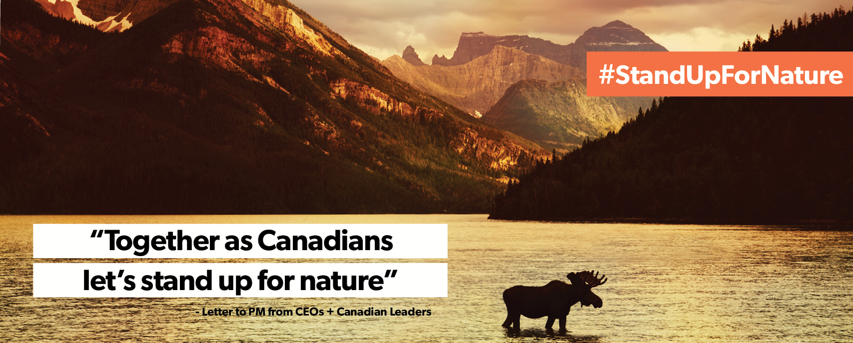 Together as Canadians, let's stand up for nature.