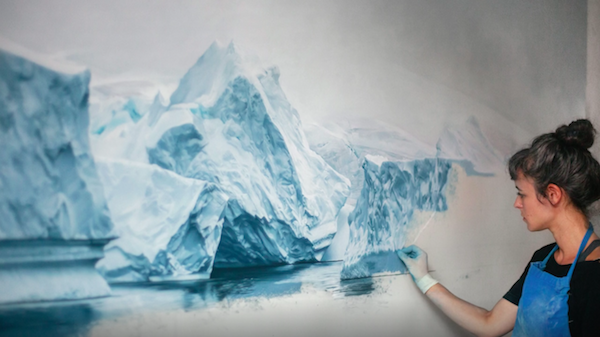 Zaria Forman has made it her life's mission to communicate the urgency of climate change through art. She creates breathtaking chalk pastel drawings of melting glaciers in Antarctica.